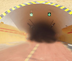 隧道防火涂料施工烧锅隧道